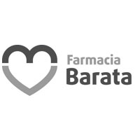 Logotipo Farmacia Barata BN