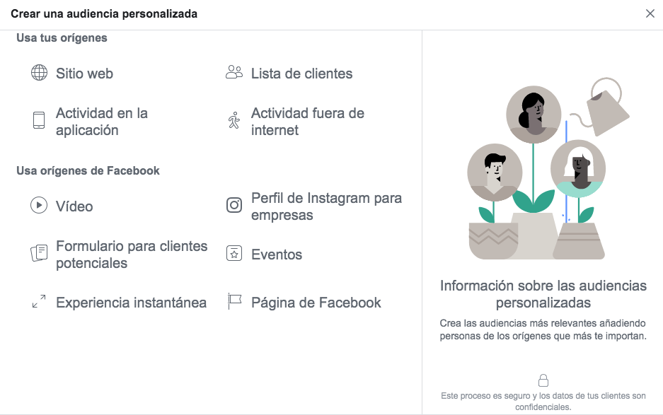 Audiencias Personalizadas Facebook