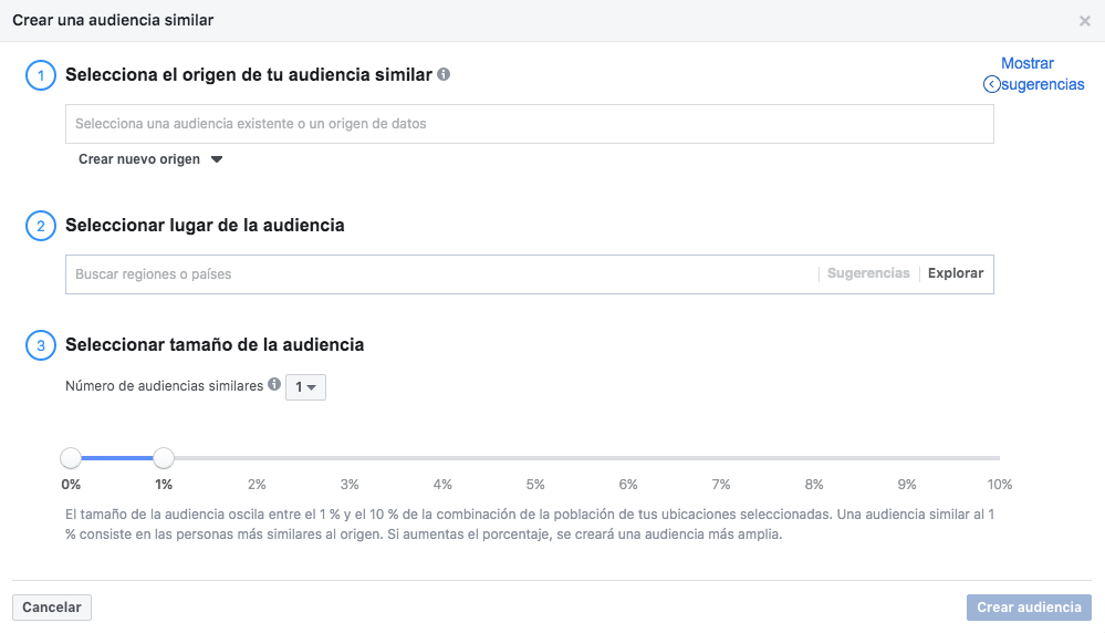 Audiencias Similares Facebook
